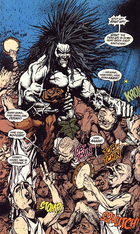 Lobo surroned by greeks