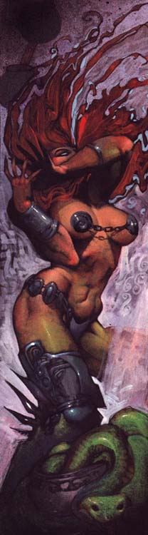 Simon Bisley draws a red headed female