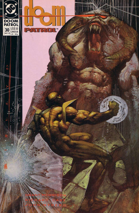 Cover to Doom Patrol #30 by Simon Bisley