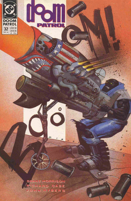 Cover to Doom Patrol #32 by Simon Bisley
