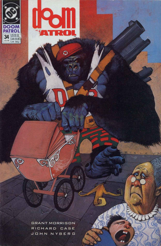 Cover to Doom Patrol #34 by Simon Bisley