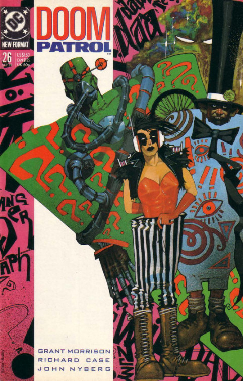 Cover to Doom Patrol #26 by Simon Bisley