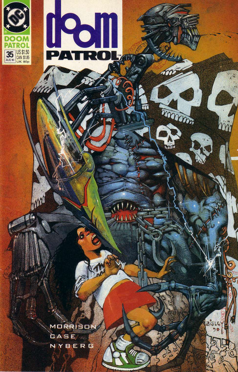 Cover to Doom Patrol #35 by Simon Bisley