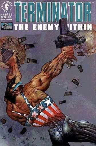 Cover to The Terminator The Enemy Within #4