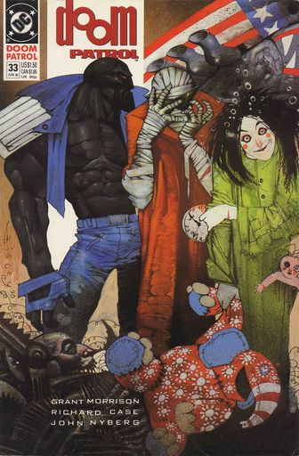 Cover to Doom Patrol #33 by Simon Bisley