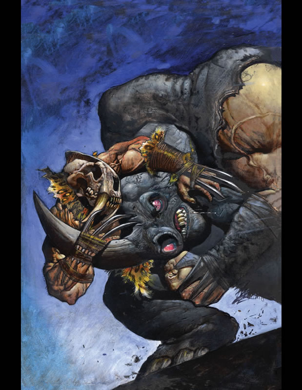 Cover to Full Cirkle #2a by Simon Bisley